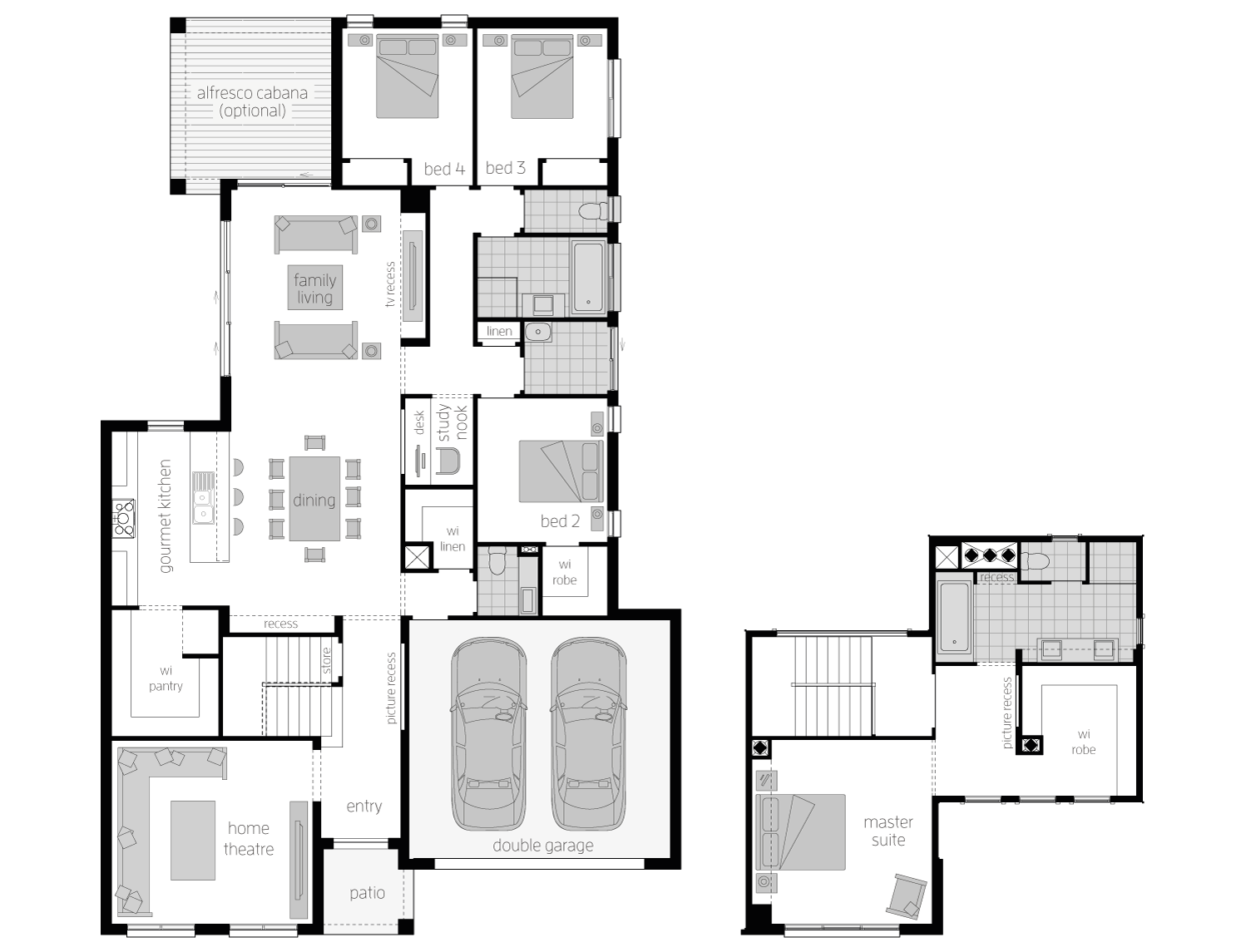 Floor Plan - Ellerston31 - Two Storey Home - McDonald Jones