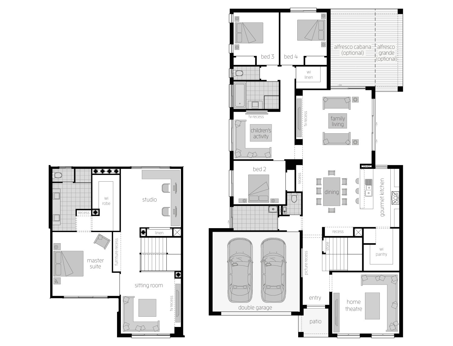 Floor Plan - Ellerston37 - Two Storey Home - McDonald Jones