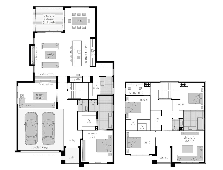 Cranbourne 36 standard floorplan