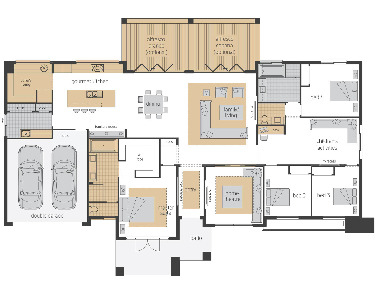 Esperance  - Upgrades floor plans