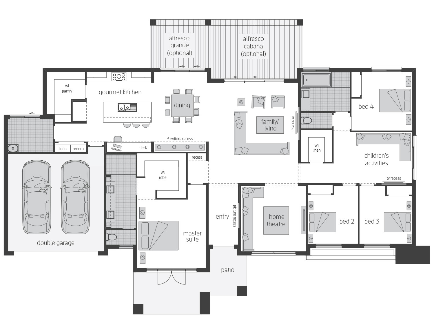 Esperance Standard Floor Plan LHS - McDonald Jones Homes