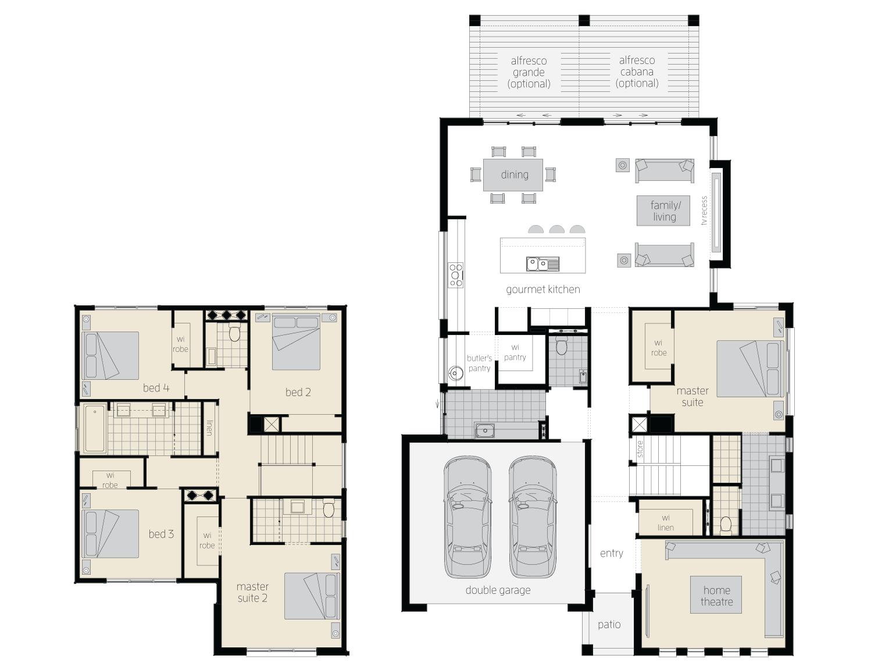 Floor Plan - Avondale - Two Storey Home - McDonald Jones