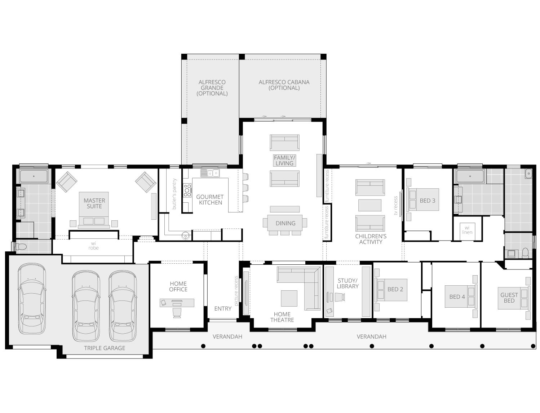 Bronte Executive Grande Manor One- Acreage Floor Plan- McDonald Jones