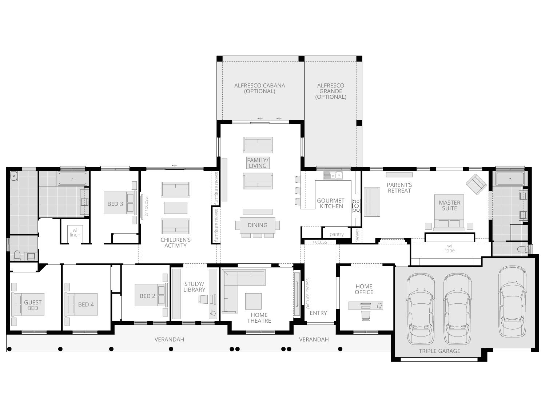 Bronte Executive Grande Manor Two- Acreage Floor Plan- McDonald Jones