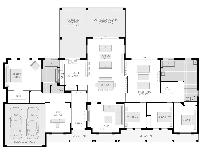 Bronte Executive- Acreage Floor Plan- McDonald Jones