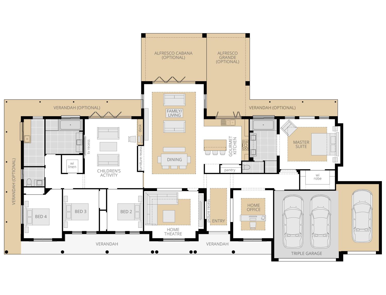 Bronte Executive- Acreage Floor Plan Upgrade- McDonald Jones