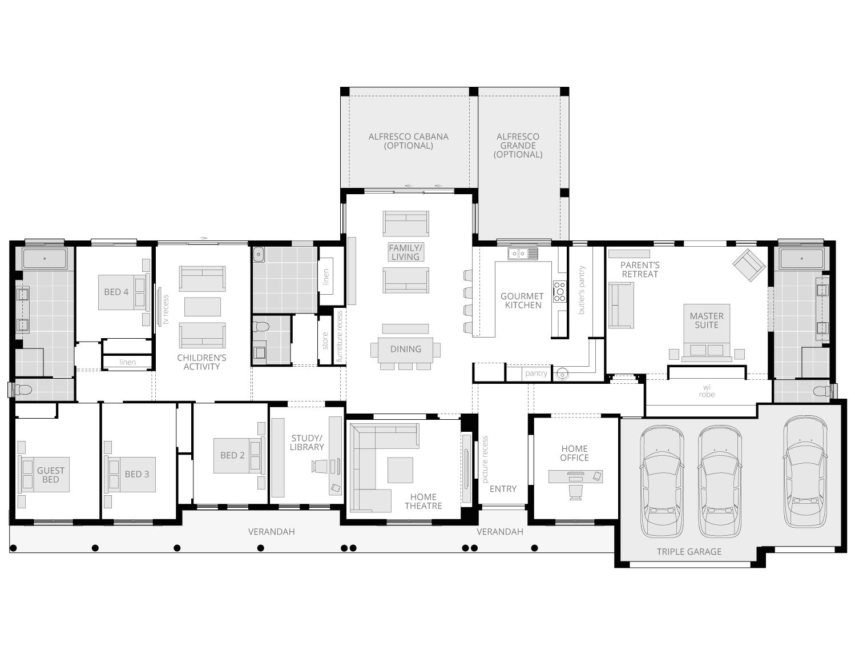 Bronte Farmhouse Grande Manor- Acreage Floor Plan- McDonald Jones