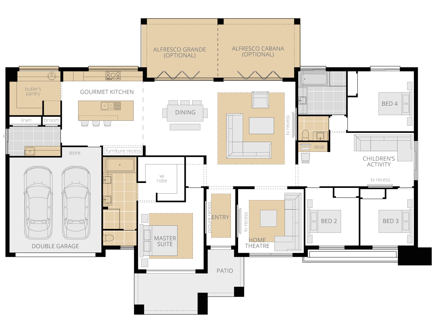 Esperance Grande- Acreage Floor Plan Upgrades- McDonald Jones