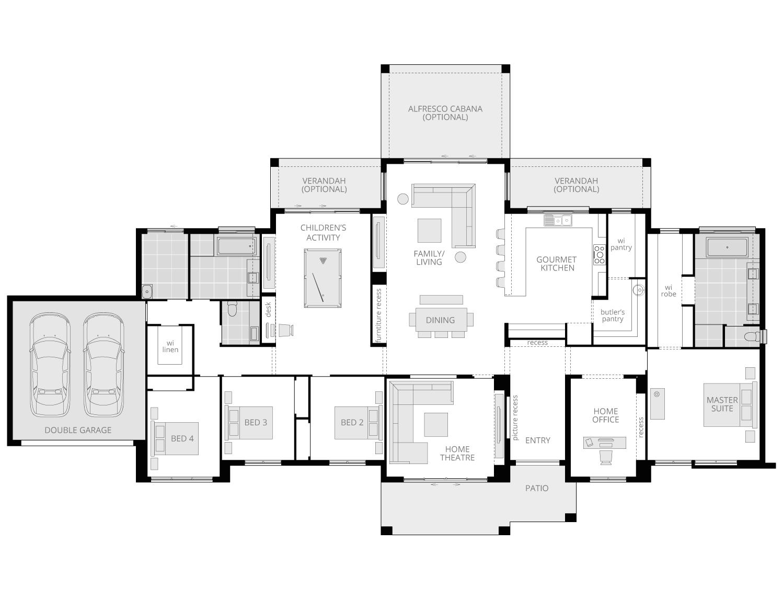 Hermitage Executive- Acreage Floor Plan- McDonald Jones