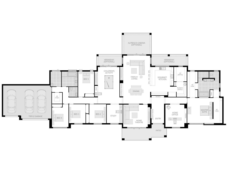 Hermitage Grande Manor- Acreage Floor Plan- McDonald Jones