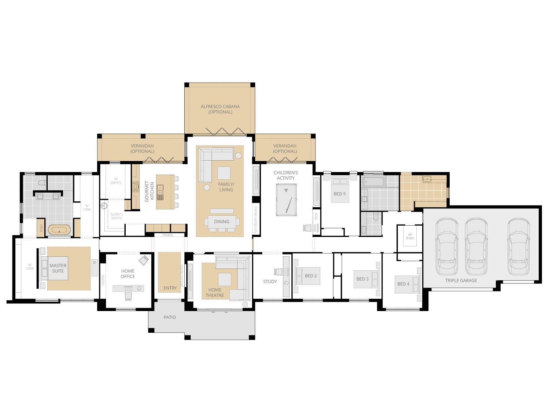 Hermitage Grande Manor- Acreage Floor Plan Upgrade- McDonald Jones
