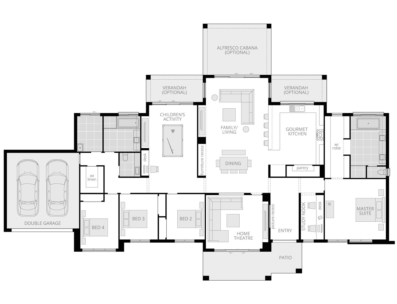 Hermitage- Acreage Floor Plan- McDonald Jones