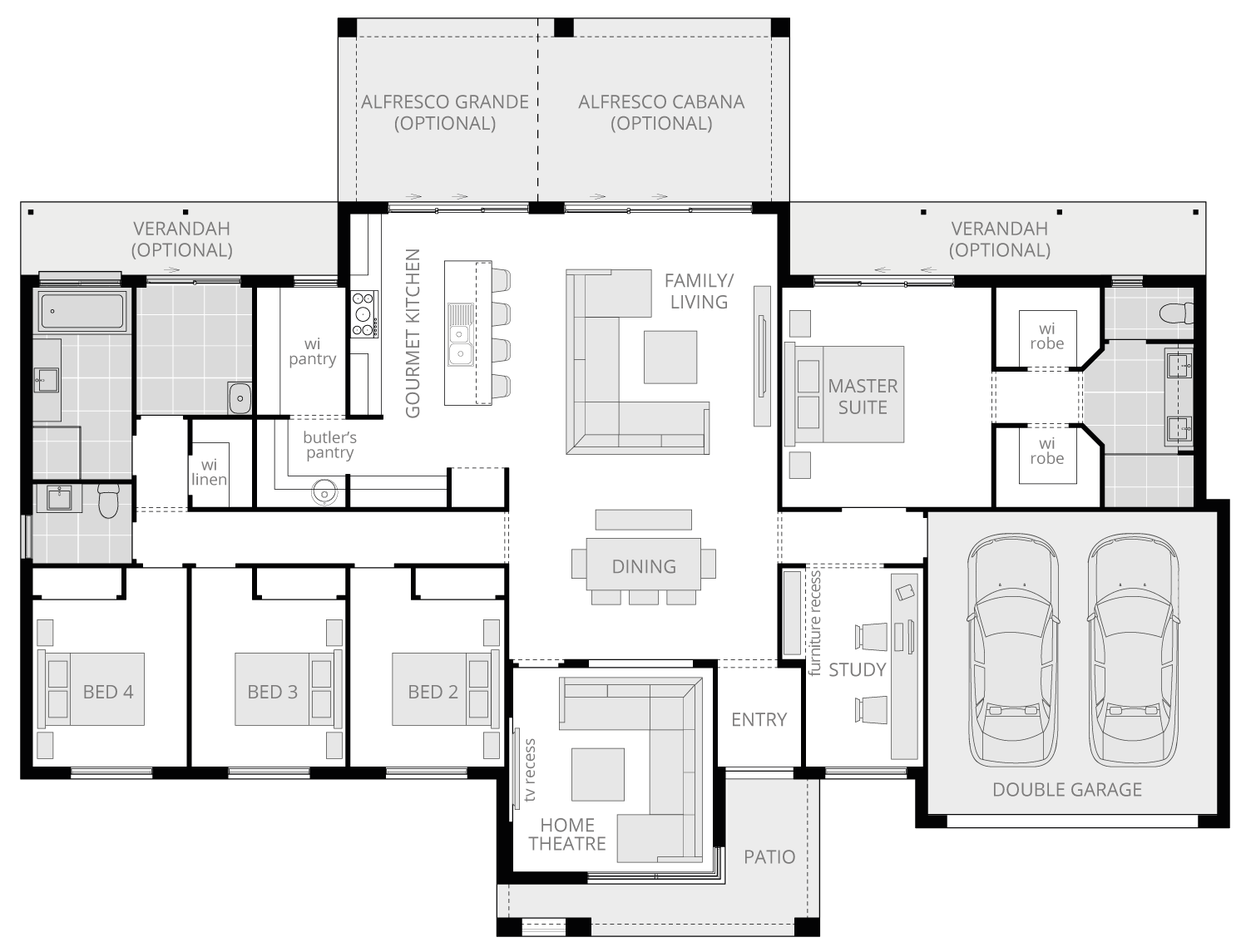 Lyndhurst Executive- Acreage Floor Plan- McDonald Jones