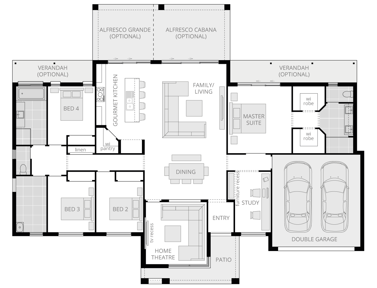 Lyndhurst- Acreage Floor Plan- McDonald Jones
