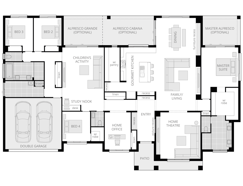 Tuscany- Acreage Floor Plan- McDonald Jones