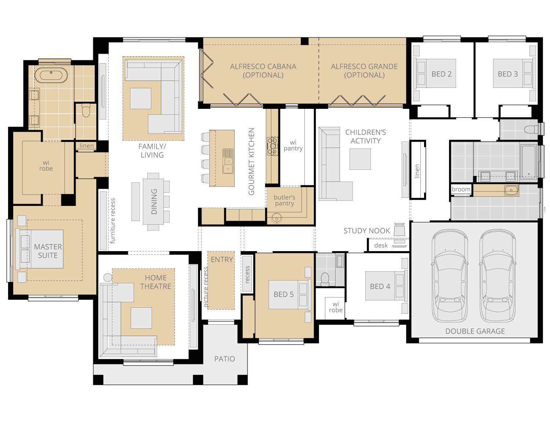 Tuscany- Acreage Floor Plan Upgrade- McDonald Jones