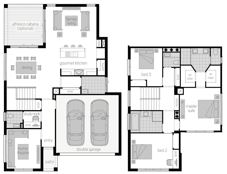 Floor Plan - Aberdeen 26 - Two Storey Home - McDonald Jones