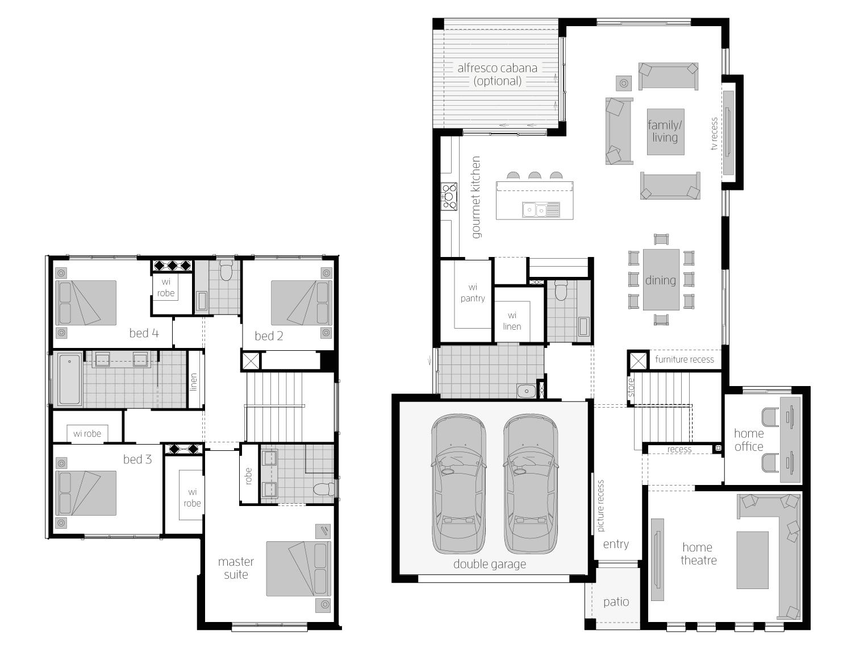 Floor Plan - Elanora32 - Two Storey Home - McDonald Jones