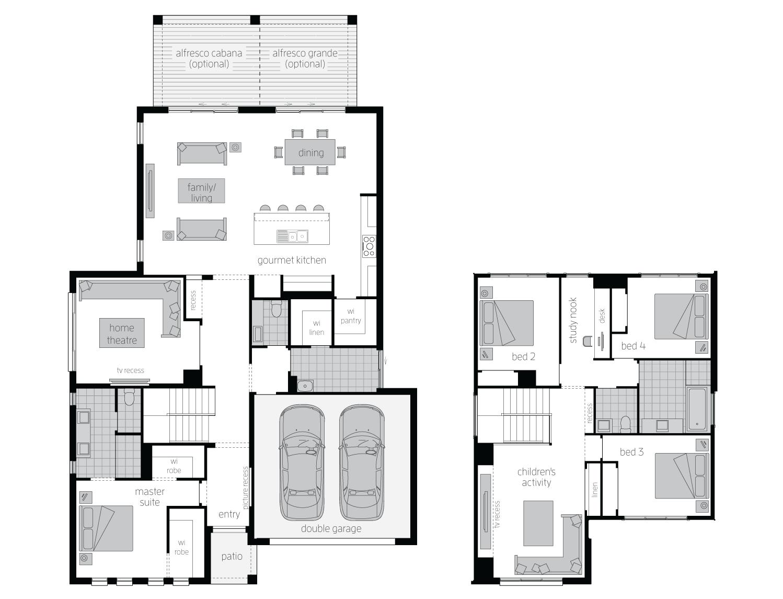 Floor Plan - Avondale34 - Two Storey Home - McDonald Jones