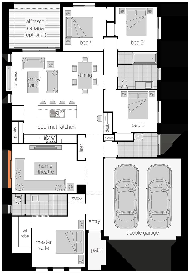 Chelsea - Single Storey Floor Plan - McDonald Jones