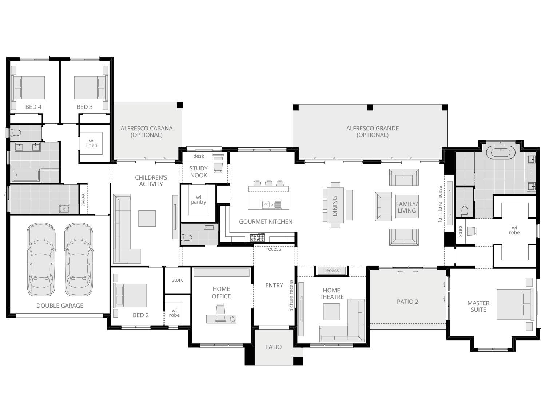 rosewood floorplan standard lhs