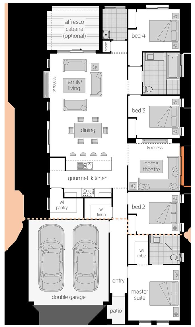 Cordova - Single Storey Floor Plan - McDonald Jones