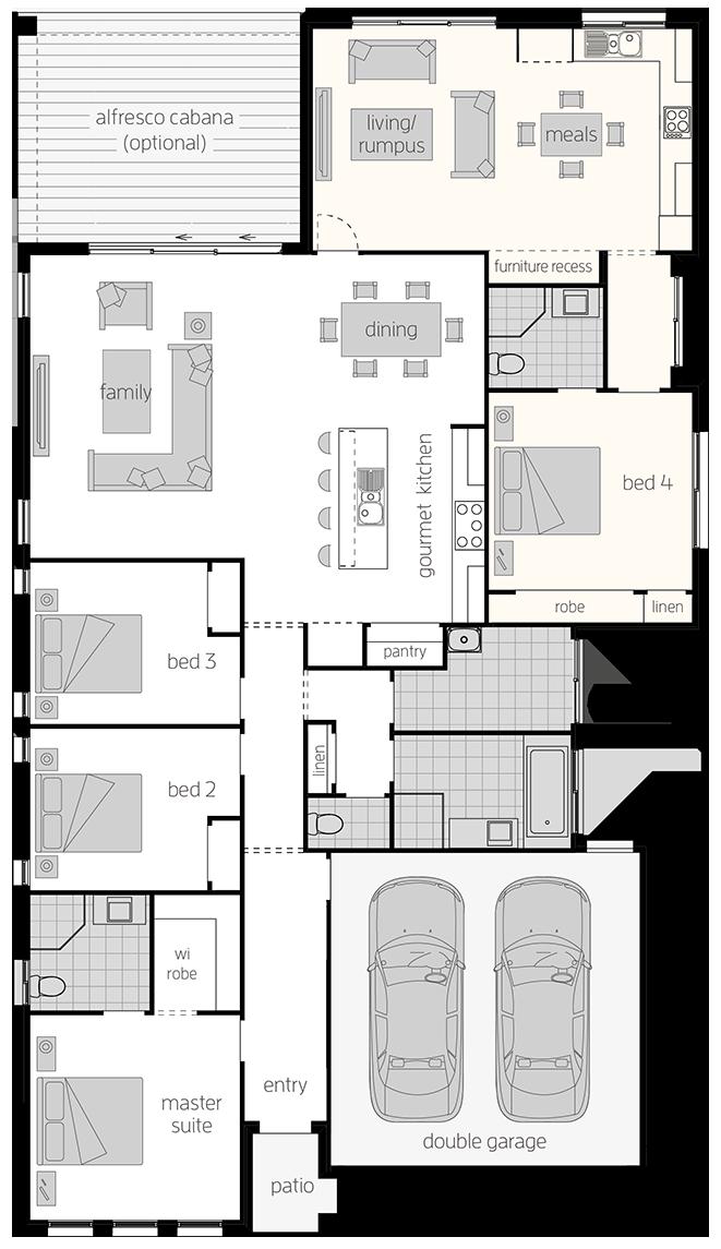 Dual Living One- Single Storey Floor Plan - McDonald Jones Homes
