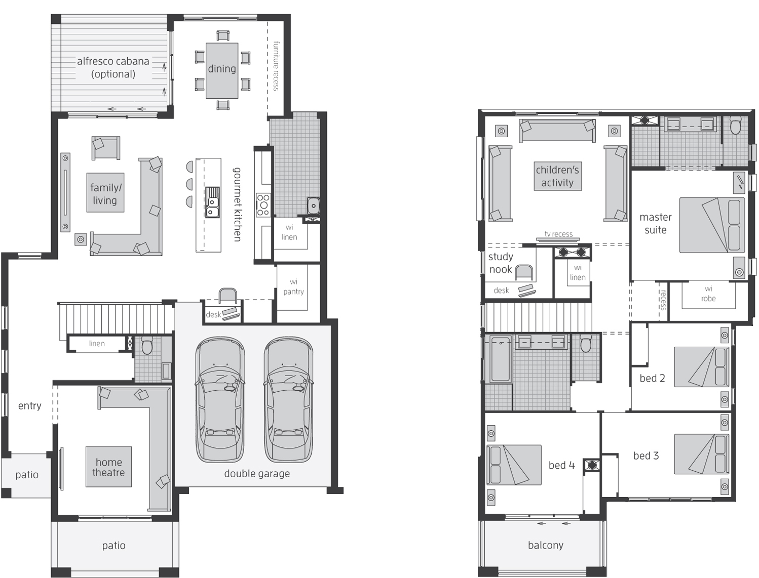 Floor Plan - Castleton 34 - Two Storey Home Design -McDonald Jones