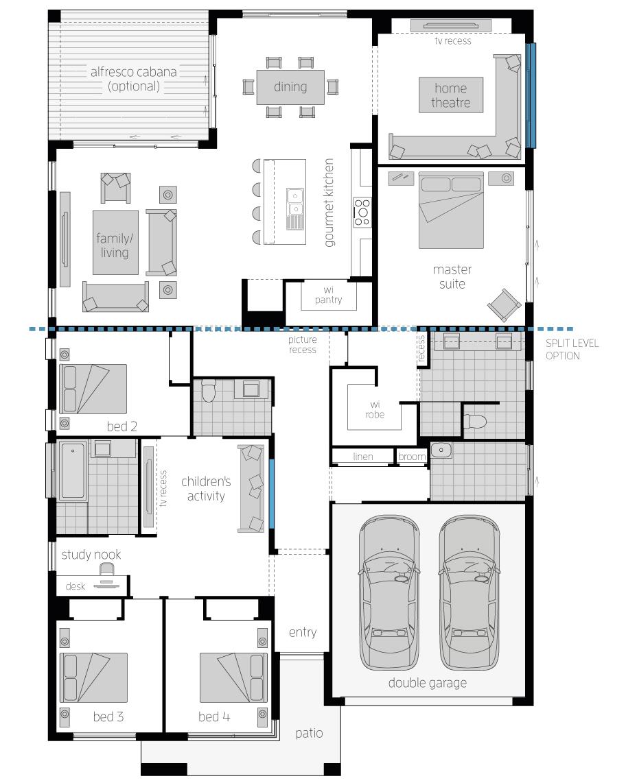 San Marino 16 - floor plan - RHS