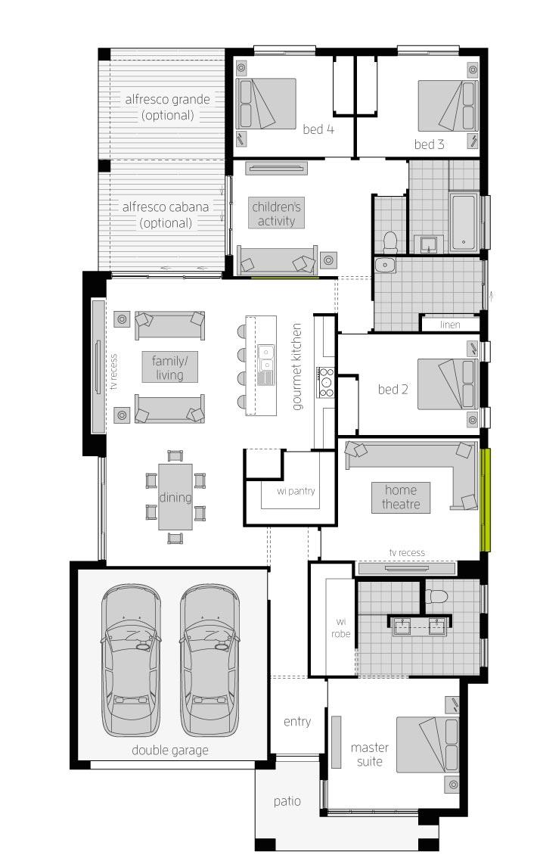 Havana Encore 14- Single Storey Floor Plan- McDonald Jones