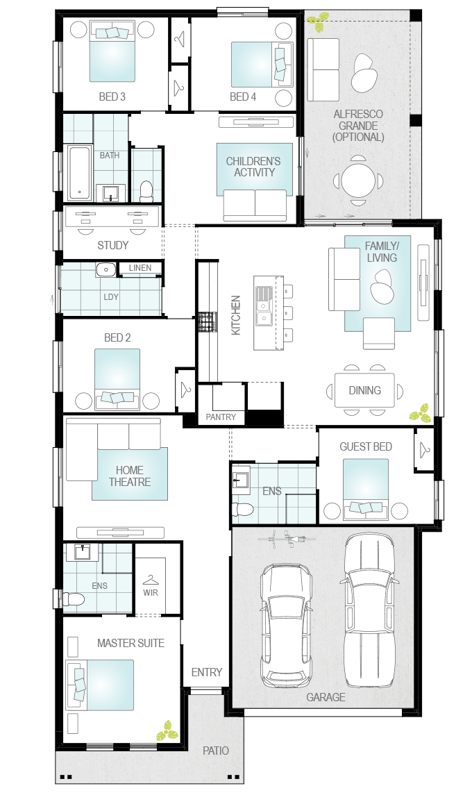 Almeria Grande- Single Storey Floor Plan- McDonald Jones