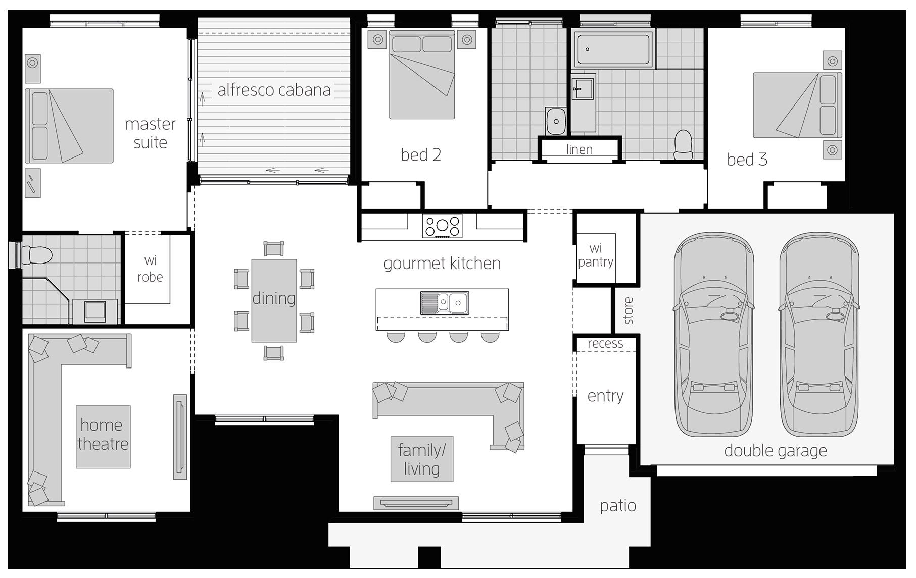 Boronia - Single Storey Floor Plan - McDonald Jones