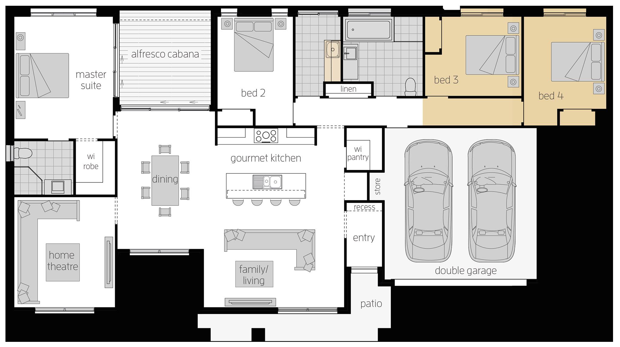 Boronia - Single Storey Floor Plan Upgrade - McDonald Jones