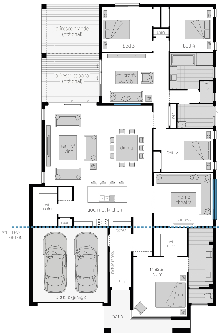 Capri Executive 16 Floor Plan by McDonald Jones