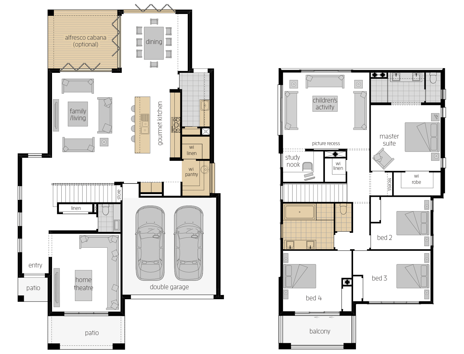 Castleton 34- Two Storey Upgrade Floor Plan- McDonald Jones