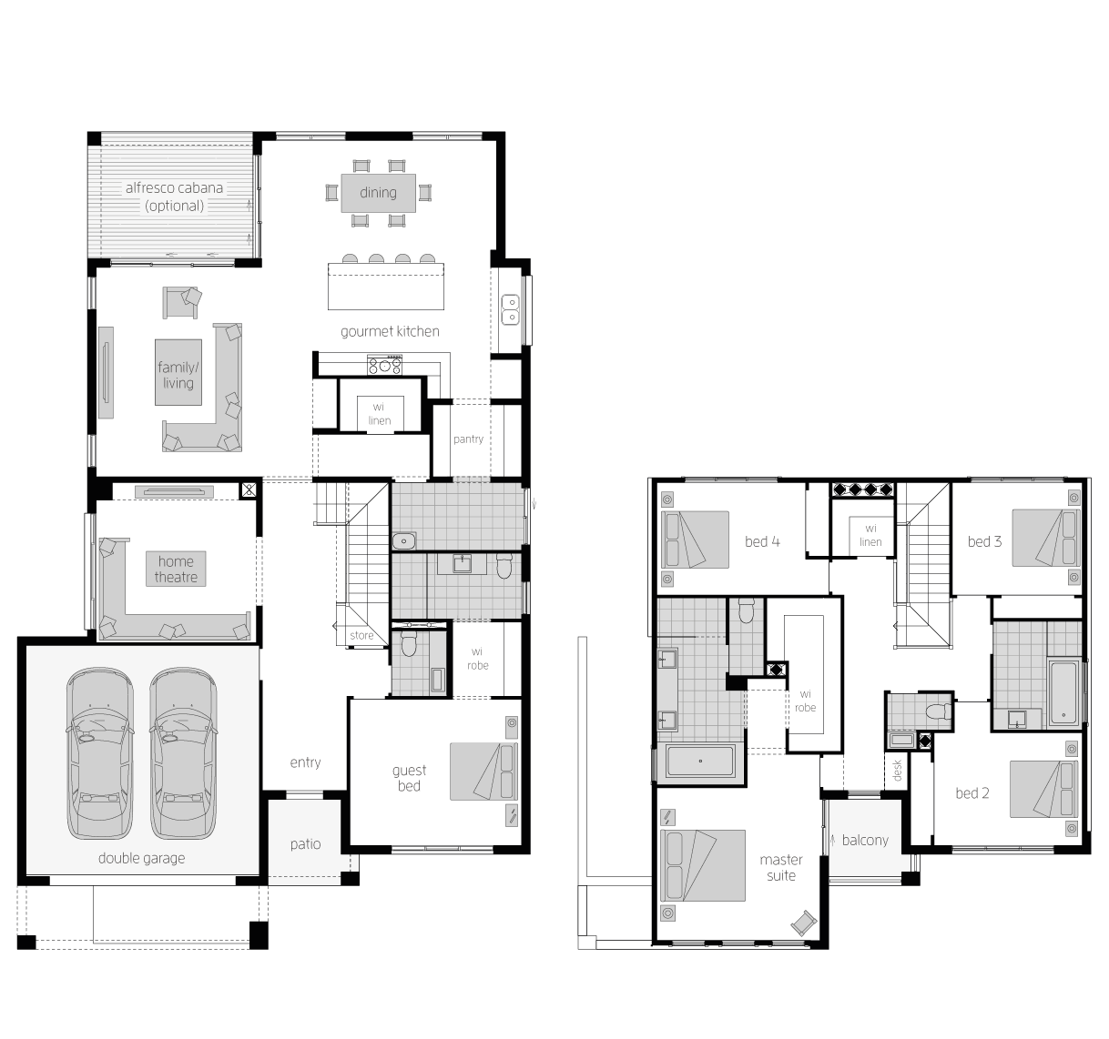 Chevalier- Two Storey Floor Plan- McDonald Jones