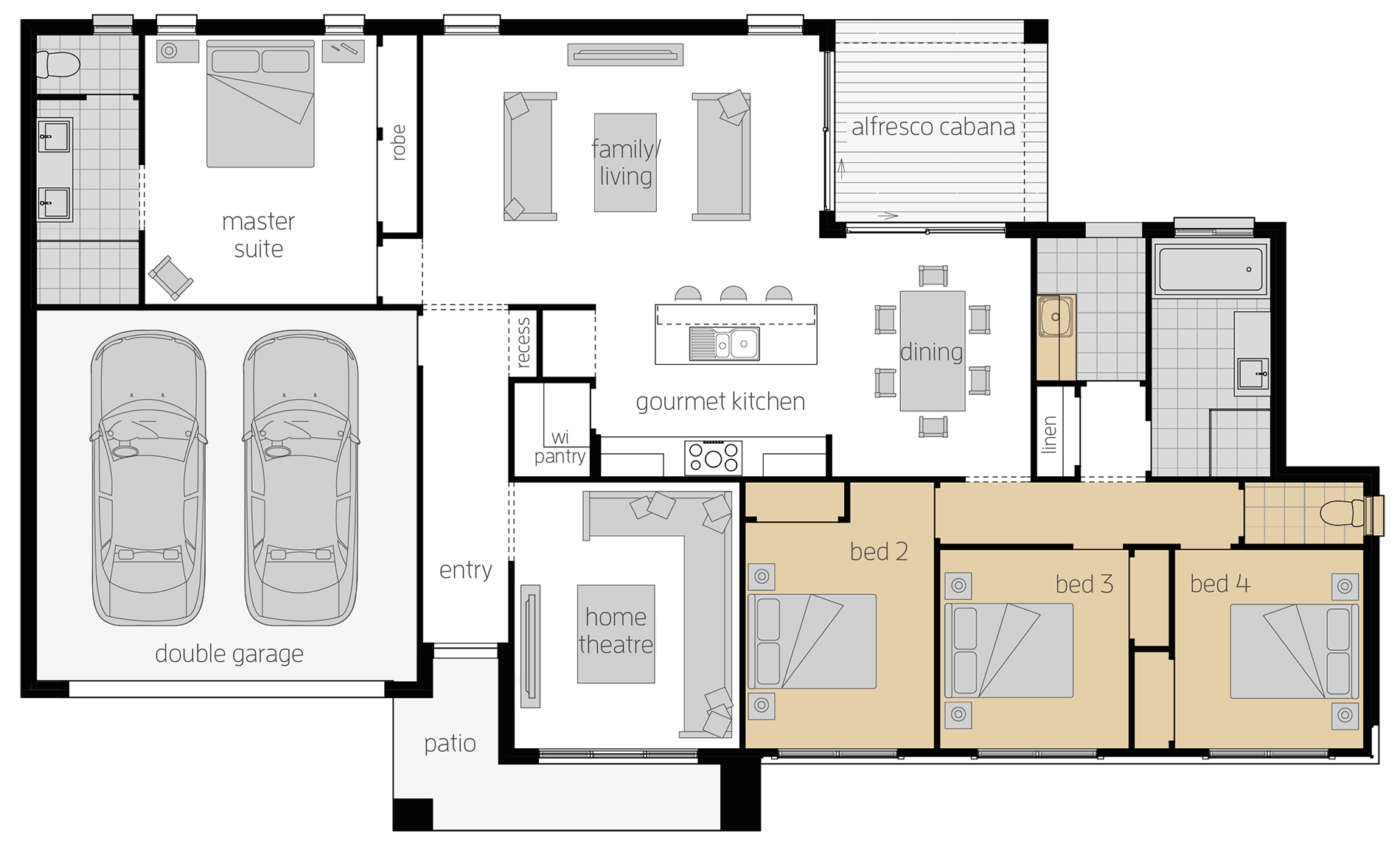 Eaton - Single Storey Floor Plan Upgrade - McDonald Jones