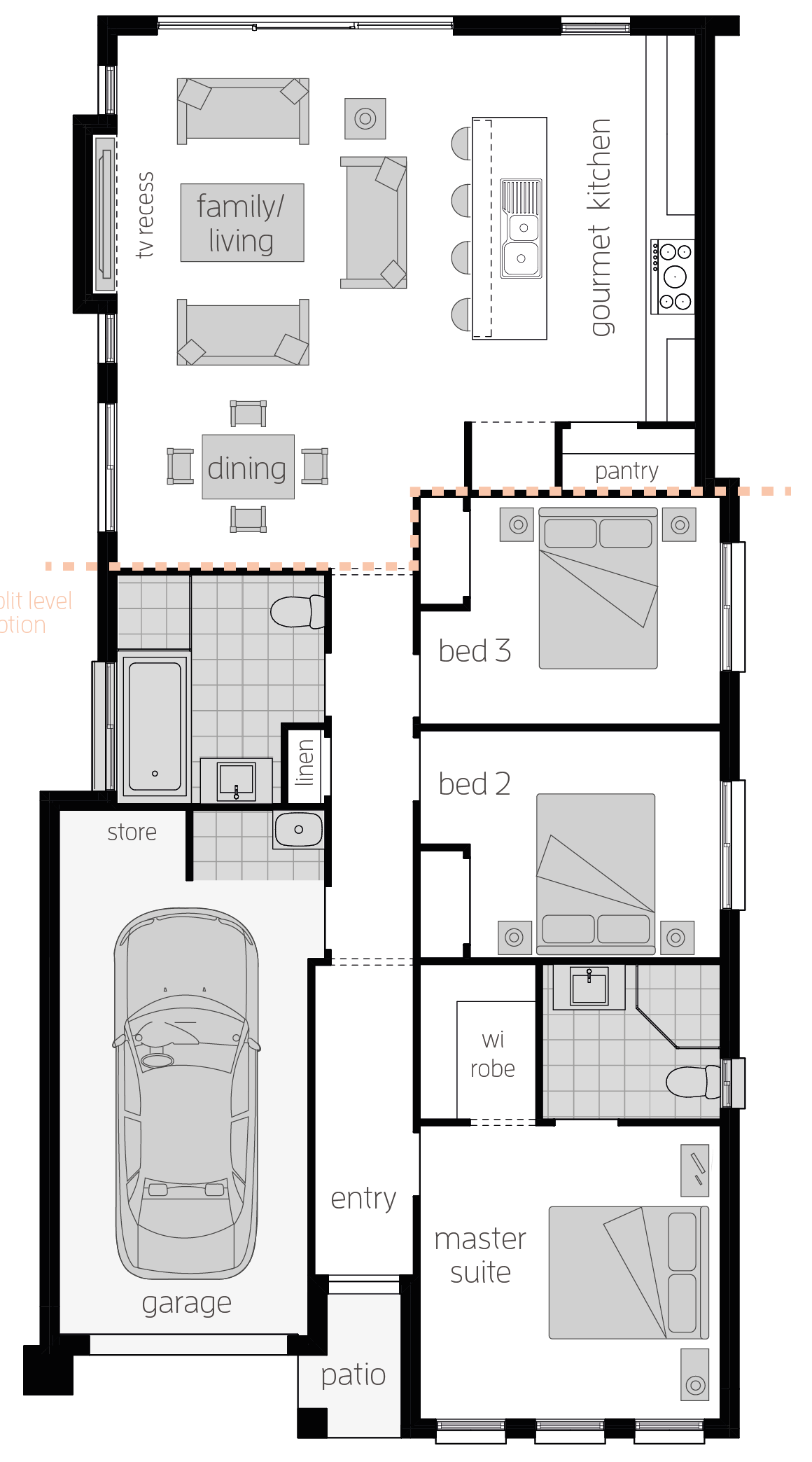 Hamilton One- Single Storey Floor Plan - McDonald Jones