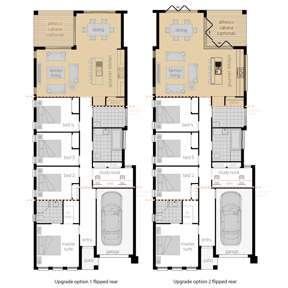 Hamilton Four Upgrades- Single Storey Floor Plan- McDonald Jones