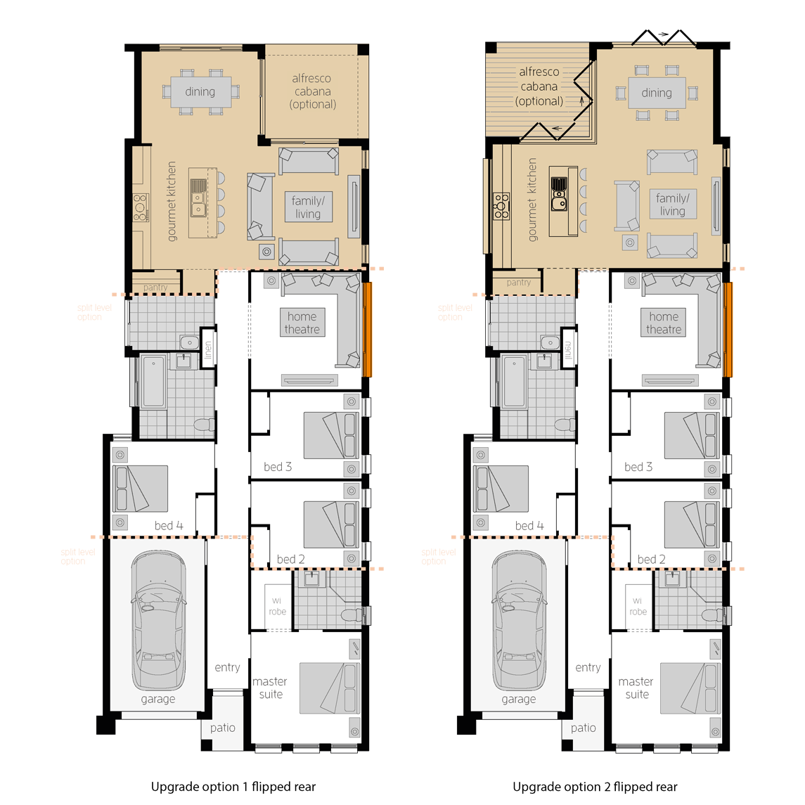 Hamilton Five Upgrades- Single Storey Floor Plan- McDonald Jones