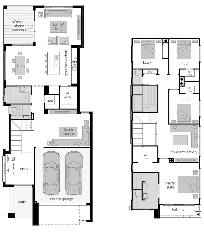 Lancaster 31- Two Storey Floor Plan- McDonald Jones