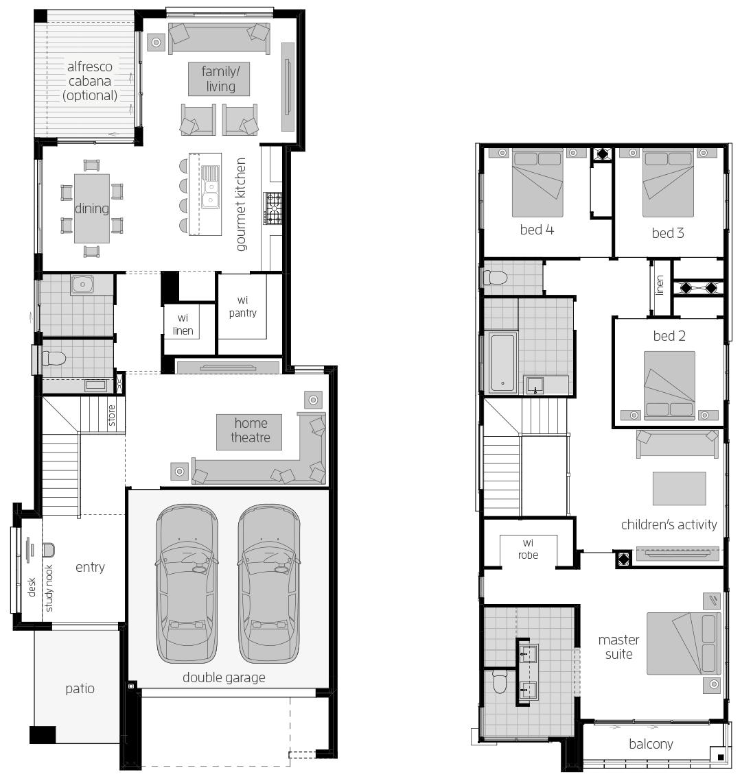 Lancaster 29- Two Storey Floor Plan- McDonald Jones