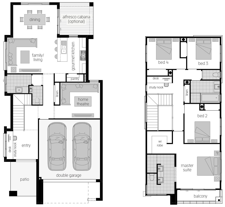 Lancaster 26- Two Storey Floor Plan- McDonald Jones