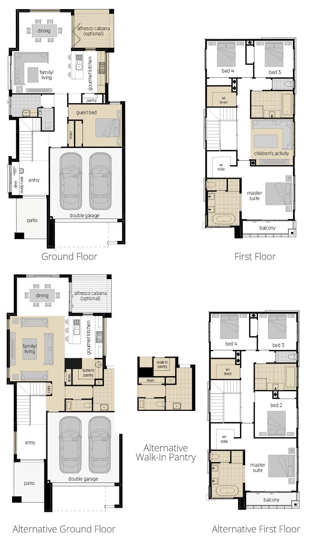 Lancaster 26- Two Storey Floor Plan Upgrade- McDonald Jones
