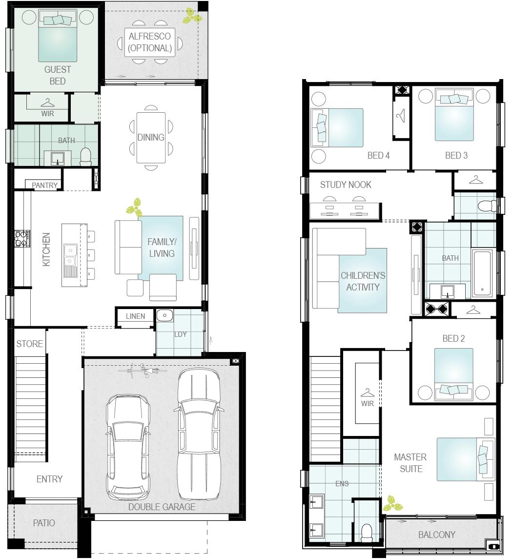 Luka Two- Two Storey Upgrade Floor Plan- McDonald Jones