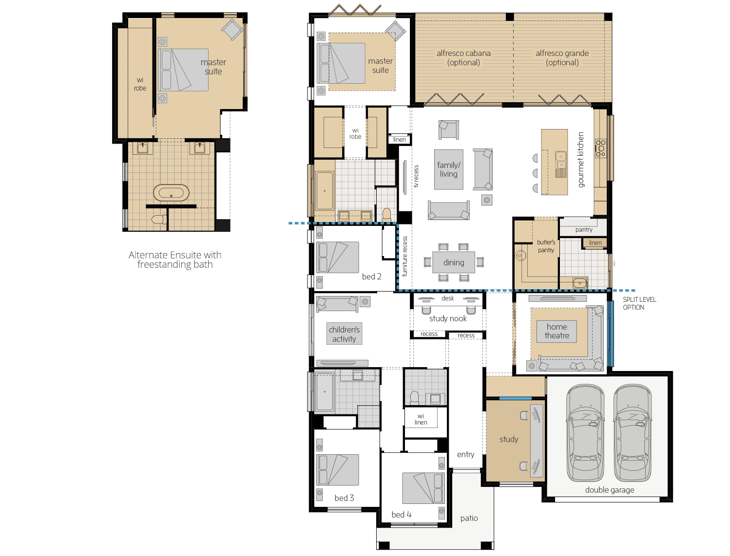 Miami Executive 16- Single Storey Floor Plan Upgrade- McDonald Jones