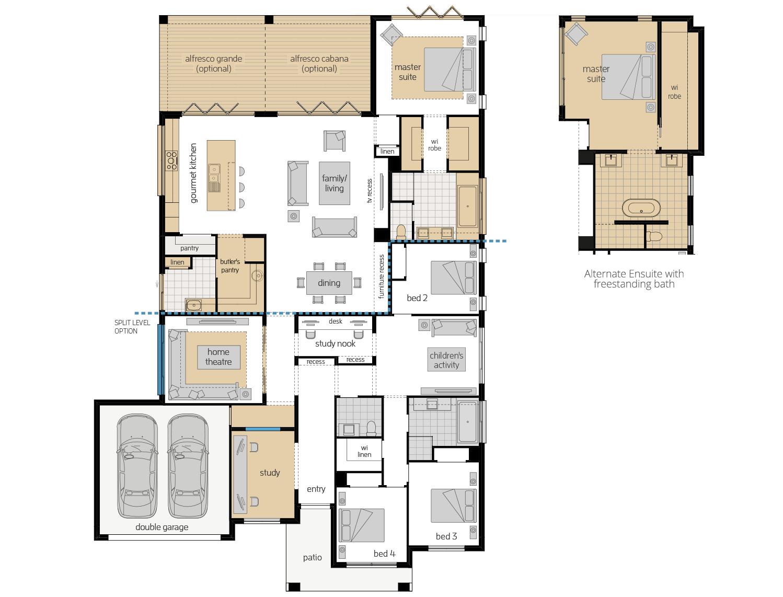 Miami Executive 16- Single Storey Floor Plan Upgrade- McDonald Jones