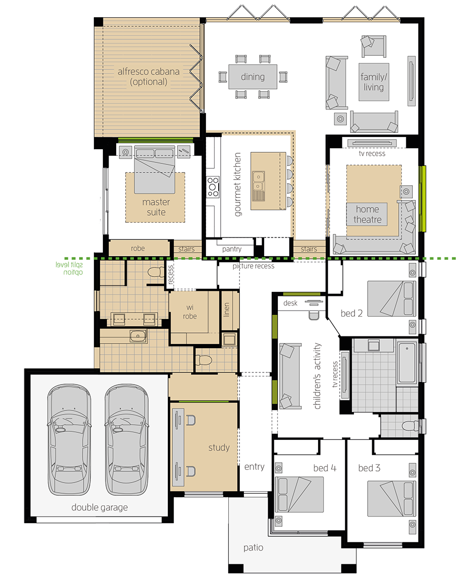 Milano 15 Four Upgrade floorplan lhs