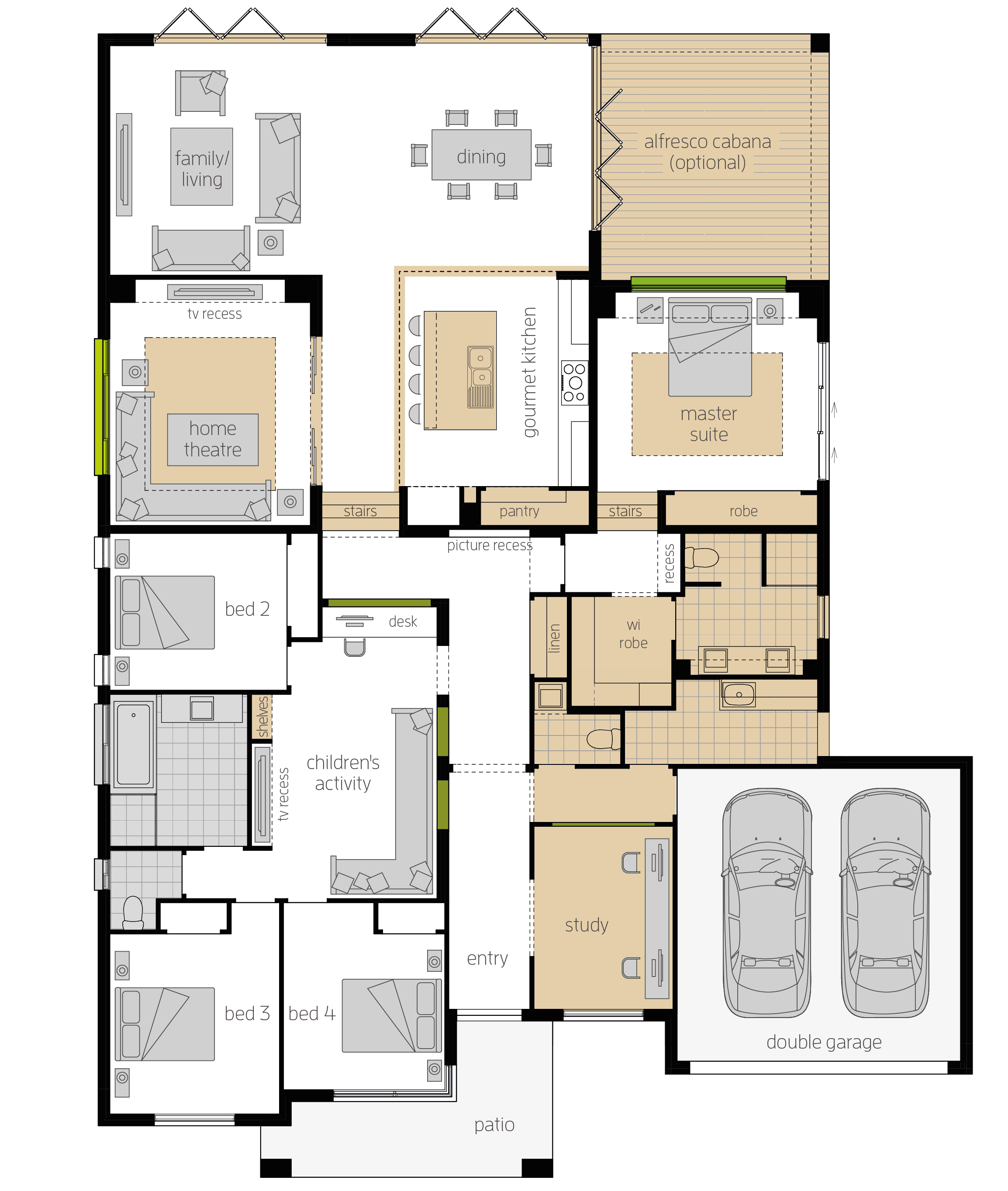 Milano 16 Four Upgrade floorplan lhs