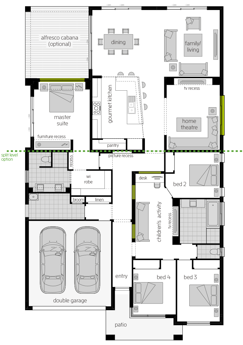 Milano 15 Four floorplan lhs